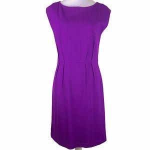 Ann Taylor Purple Pleated Sheath Dress